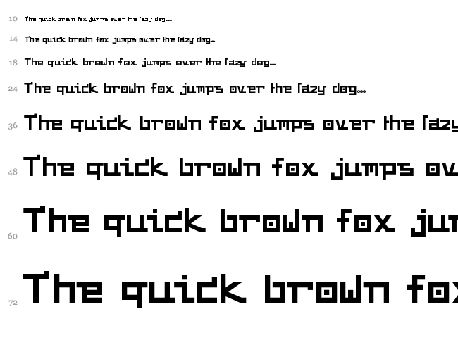 Funky Chunky font waterfall