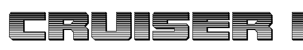 Cruiser Fortress font preview