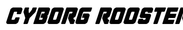 Cyborg Rooster font