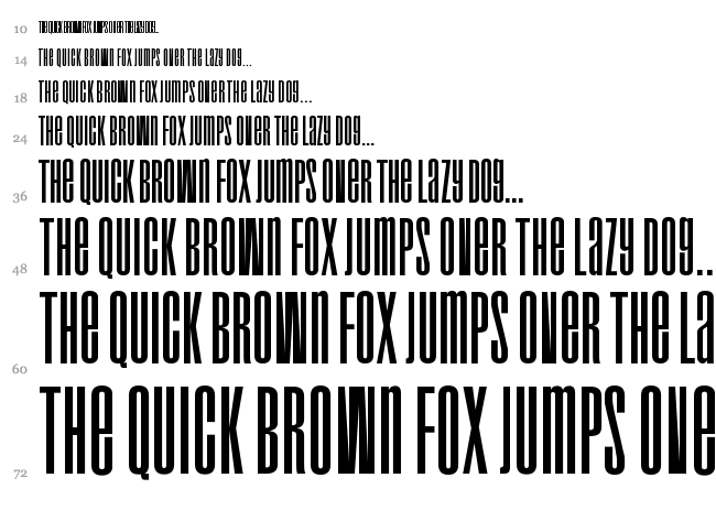 Droid font waterfall