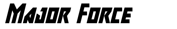 Major Force font