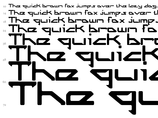 Octicity font waterfall