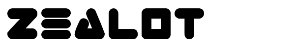 Zealot font preview