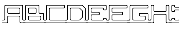 ABC, pipe font
