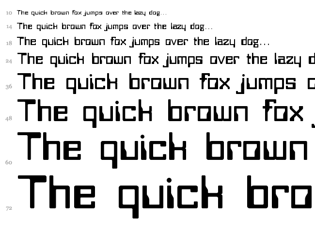 Bitwise font waterfall