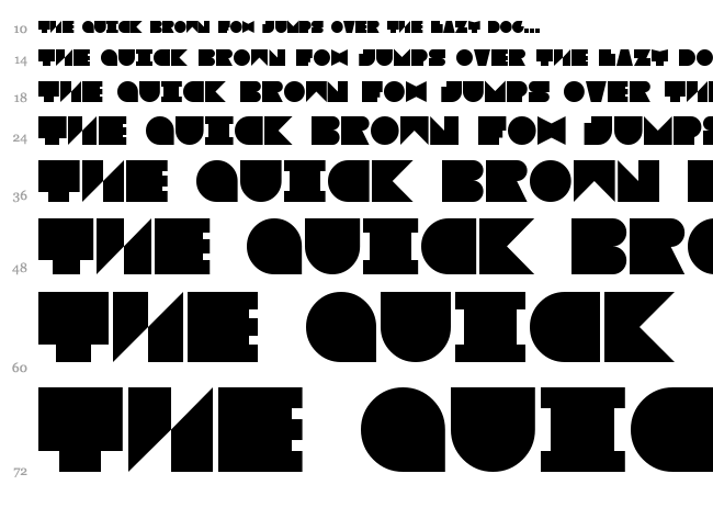 Blokked font waterfall
