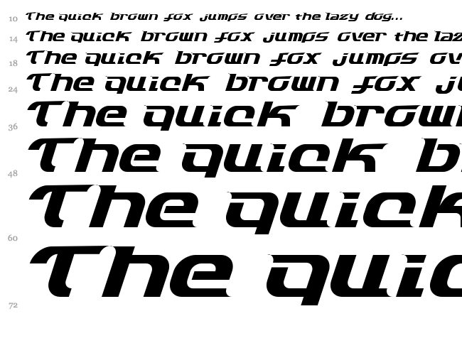 Dash 9812 font waterfall