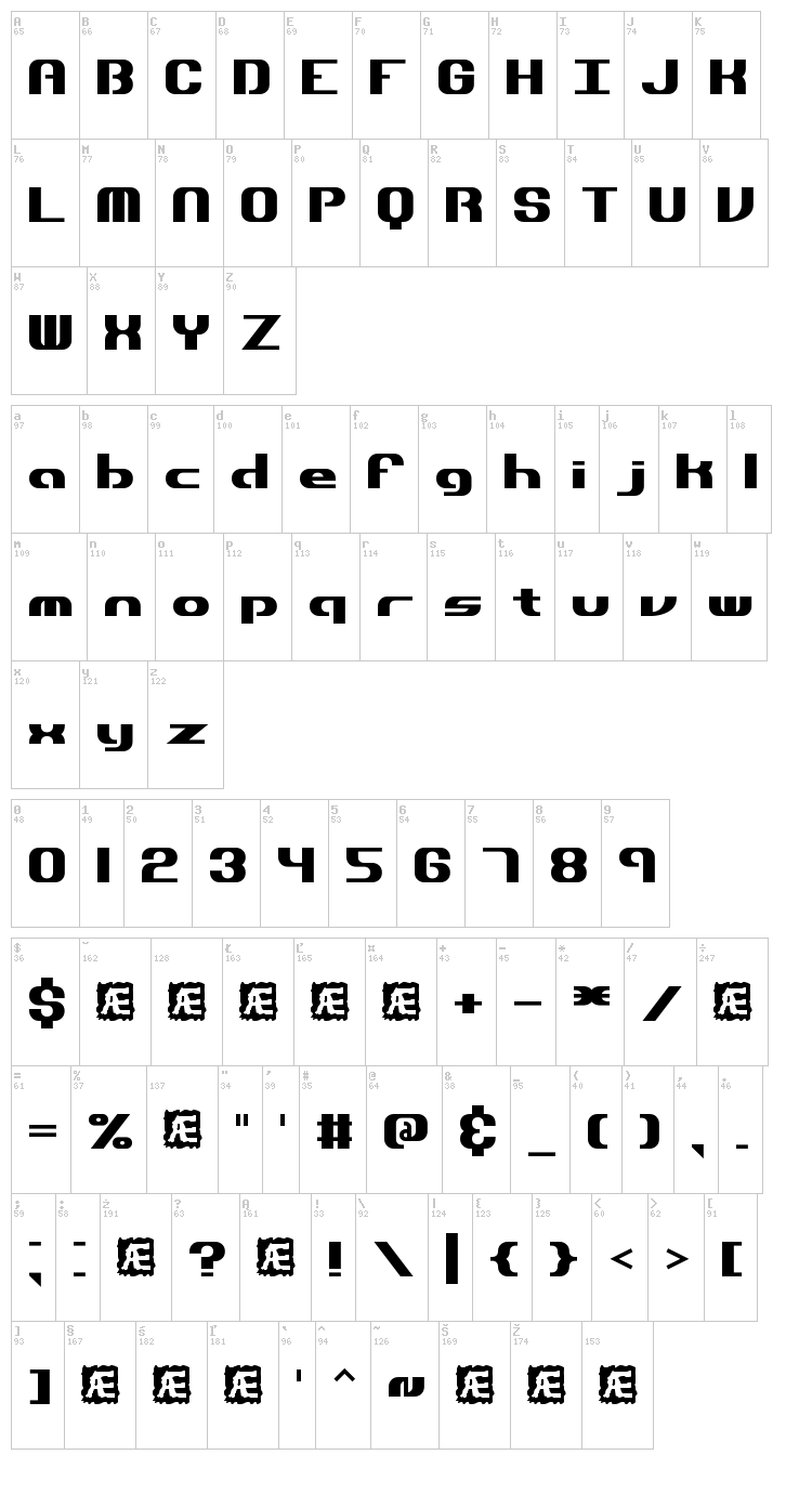 Dynamic font map