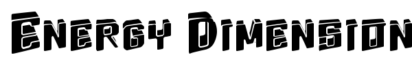 Energy Dimension font