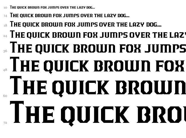 J-LOG Razor Edge font waterfall