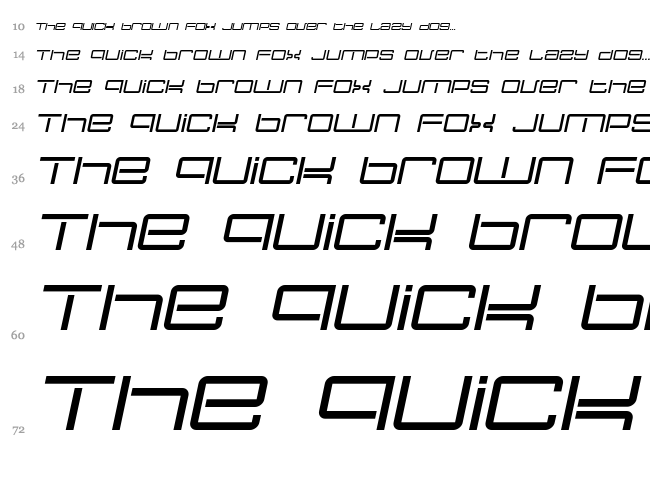 Nec Plus Ultra font waterfall
