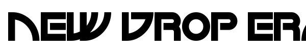 New Drop Era font