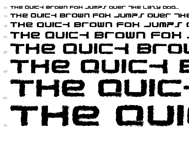 PhatBoy Slim Rough font waterfall
