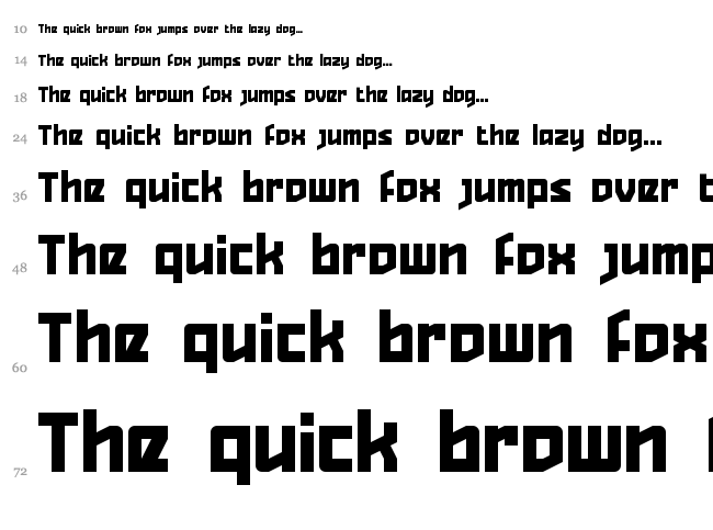 Quizzical Pitch font waterfall