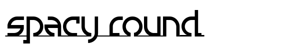 Spacy Round font