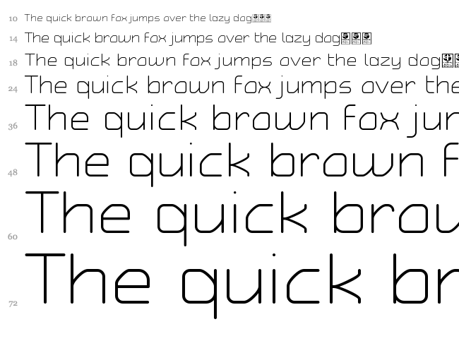Typo Angular Rounded font waterfall