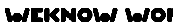 Weknow World font