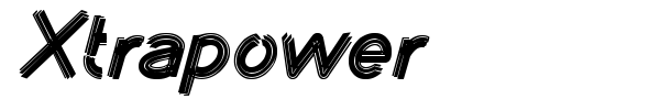 Xtrapower font