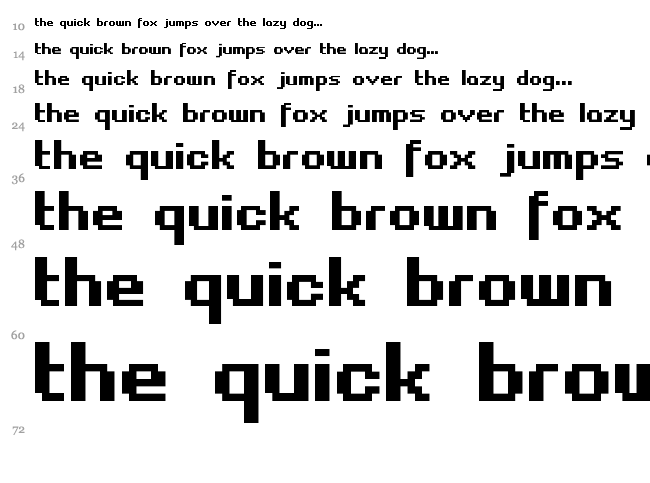 Fasttracker II font waterfall