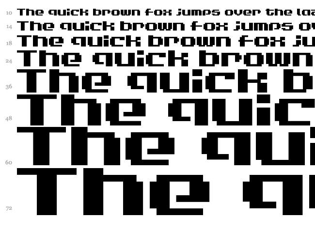 LVDC Game Over font waterfall