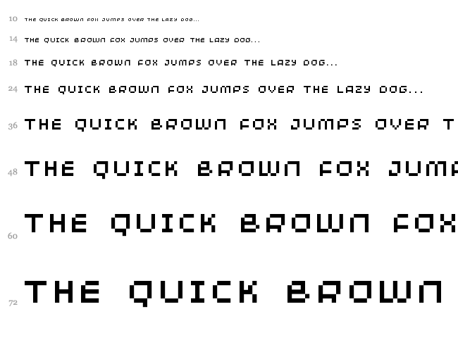 Minimum font waterfall
