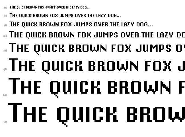 Mister Pixel 16 font waterfall