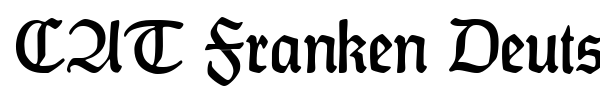 CAT Franken Deutsch font