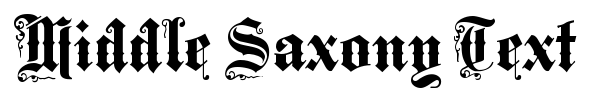 Middle Saxony Text font