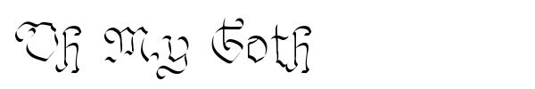 Oh My Goth font