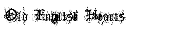 Old English Hearts font