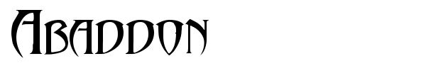 Abaddon font preview