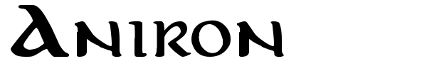 Aniron font preview
