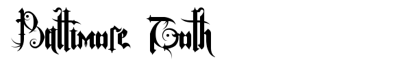 Baltimore Goth font