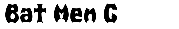Bat Men G font