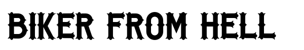 Biker From Hell font