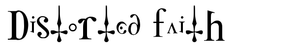 Distorted Faith font