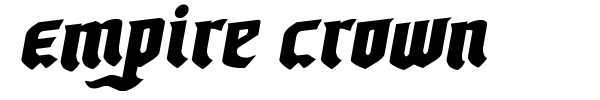 Empire Crown font