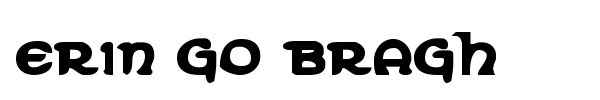 Erin Go Bragh font preview