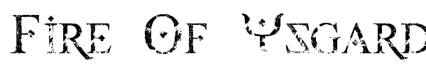 Fire Of Ysgard font