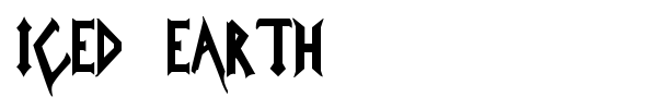 Iced Earth font