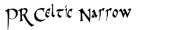 PR Celtic Narrow font