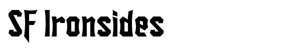 SF Ironsides font preview