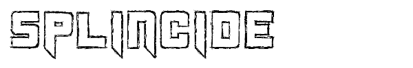 Splincide font preview