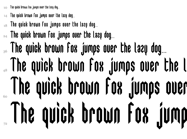 Swedie Cruel font waterfall