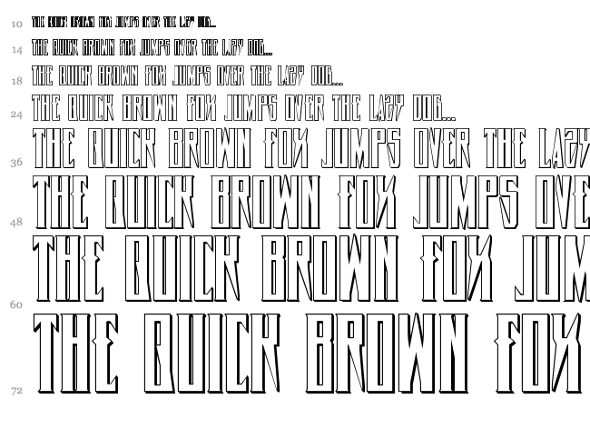 Timberwolf font waterfall