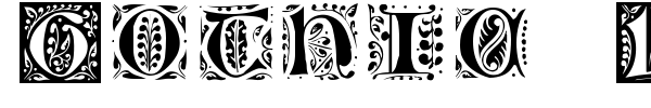 Gothic Leaf font preview
