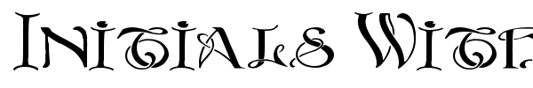 Initials With Curls font preview