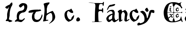 12th c. Fancy Caps font