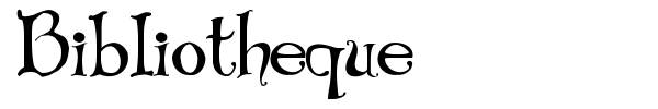 Bibliotheque font preview