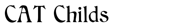 CAT Childs font